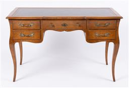 Sale 9135H - Lot 151 - A French Louis The XV style writing table. 1.23M Width, 75cm Height, 60cm Depth