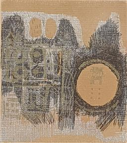 Sale 9257A - Lot 5010 - YOONG BAE (1928 - 1992) East, 1967 embellished lithograph 12.5 x 10 cm (frame: 27 x 27.5 cm) signed lower right