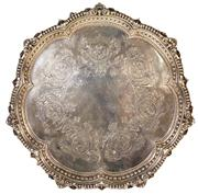 Sale 7978 - Lot 41 - English Hallmarked Sterling Silver Victorian Salver