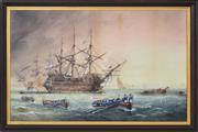 Sale 8382 - Lot 572 - George Frederick Gregory (1857 - 1913) - Lord Nelson, 1886 54.5 x 76.8cm