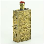 Sale 8393B - Lot 5 - Gilt Bronze Dragon Snuff Bottle