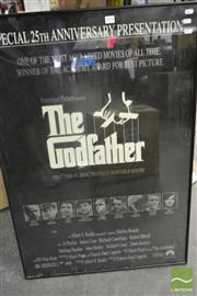 Sale 8522 - Lot 2098 - Godfather Movie Poster, Framed