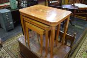 Sale 8566 - Lot 1516 - Nest of 3 Inlayed Tables