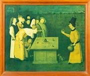Sale 8653A - Lot 46 - Print of Hieronymus Bosch work, 45 x 54.5cm