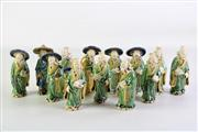 Sale 8926A - Lot 625 - Group of Chinese Porcelain Elder Figures (13), H11cm