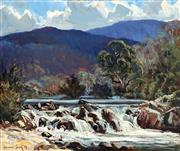 Sale 8992 - Lot 533 - Leonard Long (1911 - 2013) - River Rapids, 1962 50 x 59.5 cm (frame: 71 x 82 x 6 cm)