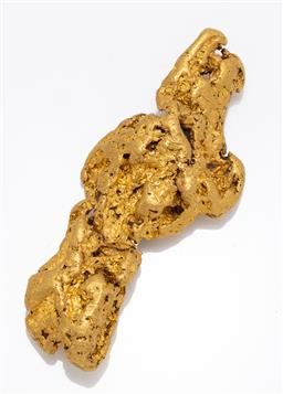 Sale 9180E - Lot 1 - A 23 carat free form gold nugget, Length 7.5cm, approx weight 91g