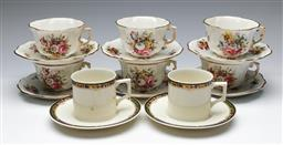 Sale 9164 - Lot 275 - A set of 6 Spode bone China trios together with a pair of Japanese duos