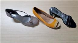 Sale 9176 - Lot 2273 - 3 Shoes in Plastic Boxes: Minelli Taupe Suede Small Heeled Shoes size 40; Teemix Staccato Yellow Shoes size 40 & Gigi Black Cocktail...