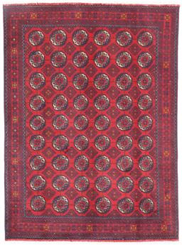 Sale 9181C - Lot 22 - Khal Sharif Bokhara wool handknotted North Afghan Tribal Rug in red and navy tone 200 x 150cm