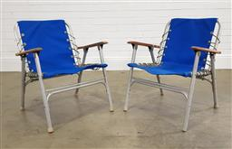 Sale 9215 - Lot 1529 - Pair of folding camping chairs (h71cm)