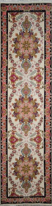 Sale 8370C - Lot 13 - Persian Silk Tabriz 320cm x 80cm