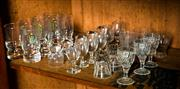 Sale 8418A - Lot 69 - A shelf lot of drinking glass wares