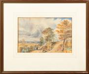Sale 8653A - Lot 47 - Artist Unknown - Untitled - Village Landscape 23.5 x 37cm