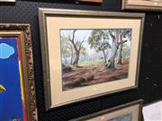 Sale 8861 - Lot 2098 - Allen Toomey - Country Living, watercolour, 61 x 76.5 (frame) signed lower right,