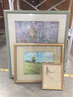 Sale 9147 - Lot 2075 - Decorative prints by John Powell & Monet together with a Chinese Woodblock print (3)