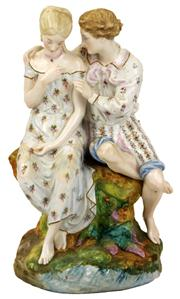 Sale 7974 - Lot 29 - Continental Figure Group of a Courting Couple