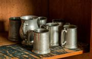 Sale 8418A - Lot 70 - A quantity of pewter tankards