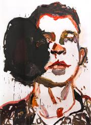Sale 8451E - Lot 5020 - Ben Quilty (1973 - ) - Trooper Luke Korman 89 x 65cm (frame size: 117 x 91cm)