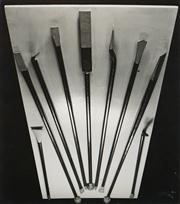 Sale 8592A - Lot 5004 - Max Dupain (1911 - 1992) - Still Life: Crowbar, Prybar, Pinch-bar, Jimmy 21.5 x 19cm