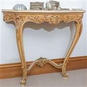 Sale 8414A - Lot 19 - An Italian style console table with carved shell apron, W 58cm