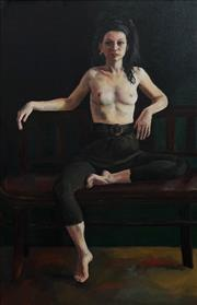 Sale 8683A - Lot 5175 - K Shirley - Seated Nude, 1985 66 x 42.5cm