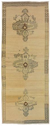 Sale 8725C - Lot 49 - A Vintage Turkish White Wash Carpet, Hand-knotted Wool, 220x85cm, RRP $975