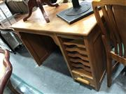 Sale 8854 - Lot 1053 - Small Maple Desk with Tabbour Shutter