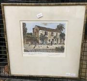 Sale 9053 - Lot 2051 - Maurice Jacques Escalier Coror au Musee Gamme Barbizon hand-coloured etching