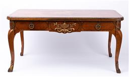 Sale 9135H - Lot 142 - A Louis the XV style low table with marquetry inlaid. 85cm Width, 45cm Depth, 42cm Height