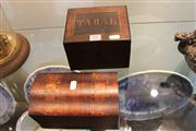 Sale 7977 - Lot 51 - Victorian Boxes incl Birdseye Walnut Tobak and Inlaid Caddy