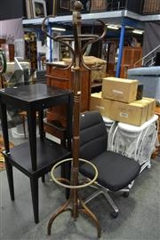 Sale 8159 - Lot 1091 - Timber Coat & Hat Stand