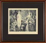 Sale 8337A - Lot 83 - Norman Lindsay (1878 - 1969) - Priestess to the Magi, 1934 22.5 x 27.5cm