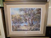 Sale 8422T - Lot 2072 - Evelyn Campbell - Waters Edge 40 x 50cm