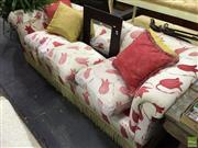Sale 8566 - Lot 1625 - Cream Upholstered Three Seater Sofa (some damage)