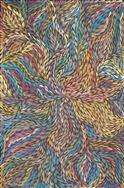 Sale 8633A - Lot 5091 - Rosemary (Pitjara) Petyarre (c1965 - ) - Yam Leaf Dreaming 92 x 61cm