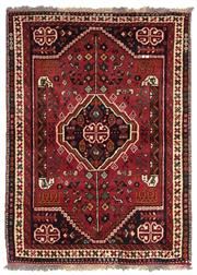 Sale 8725C - Lot 50 - A Persian Shiraz Carpet, Hand-knotted Wool, 142x165cm, RRP $950
