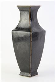 Sale 8815C - Lot 78 - Chinese Black Glazed Square Vase (H 32cm)