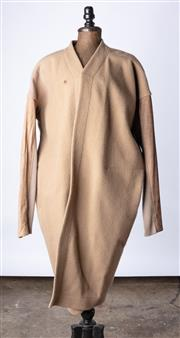 Sale 9003F - Lot 16 - A Rick Owen wool beige jacket with side pockets, stretch fabric to underarm arm, size 10
