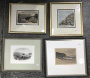 Sale 9033 - Lot 2063 - A group of 4 hand-coloured antique engravings, framed and various sizes
