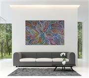 Sale 9043A - Lot 5019 - Rosemary (Pitjara) Petyarre (c1965 - ) - Yam Leaf Dreaming 128 x 201 cm (stretched and ready to hang)