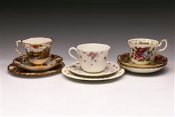 Sale 9110 - Lot 355 - Set of two Royal Albert together with a duo