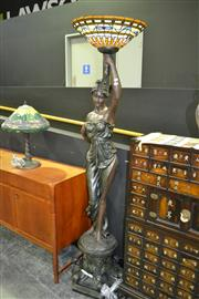 Sale 8013 - Lot 1003 - Lady Figure Standing Lamp