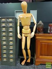 Sale 8545 - Lot 1007 - A Timber Full Size Artists Mannequin