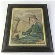 Sale 8793 - Lot 52 - Thank God. Amy Johnson in her Aeroplane (Jason) 1930s, image 28 x 21cm.