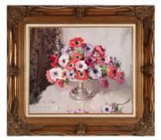 Sale 8818A - Lot 5 - BAlan D BakerDRI Floral Still Life with PoppiesDR oil on board in elaborate gilt frameR 60 x 49cmR SLL