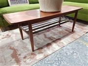 Sale 8930 - Lot 1065 - Teak Coffee Table with Rolled Lip