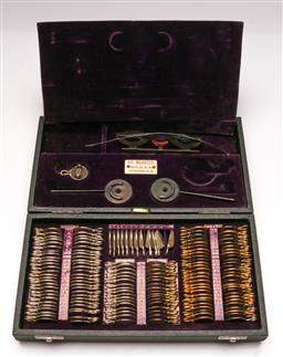 Sale 9122 - Lot 20 - Early 20th Century Cased Optometry Set Of Lenses