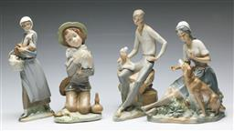 Sale 9164 - Lot 131 - A collection of four porcelain figural groups inc Nao and Zaphir (H:26cm)