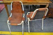 Sale 8138 - Lot 990A - Set Of Four Charlotte Perriand Style Chairs